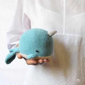 Celeste la balena amigurumi a uncinetto, idee regalo per bambini