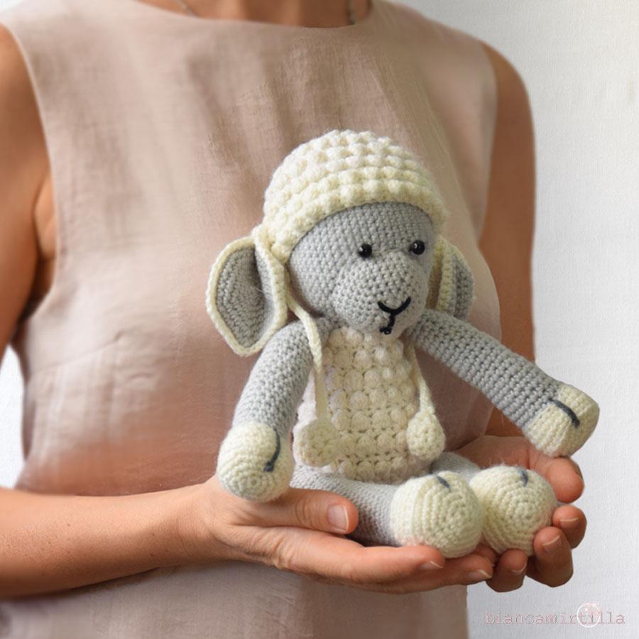 Pecorella Perla Amigurumi Fatto A Mano Uncinetto Biancamirtilla