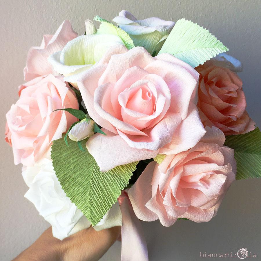 Bouquet Sposa Di Carta.Bouquet Elisa Biancamirtilla
