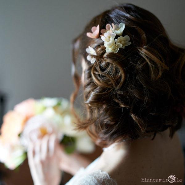 forcine per capelli con anemoni fiori di carta idee regalo
