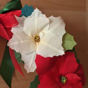 Ghirlanda con stelle di Natale di carta crespa, idee regalo