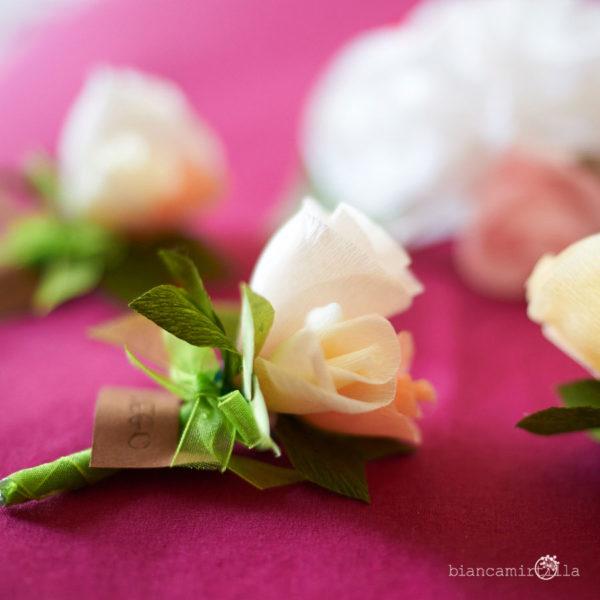 boutonniere gruppo fiori di carta idee regalo
