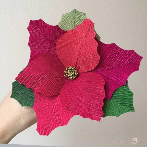 Stella di Natale in carta crespa idee regalo per natale
