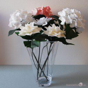 Gardenia e Ortensia fiori di carta idee regalo