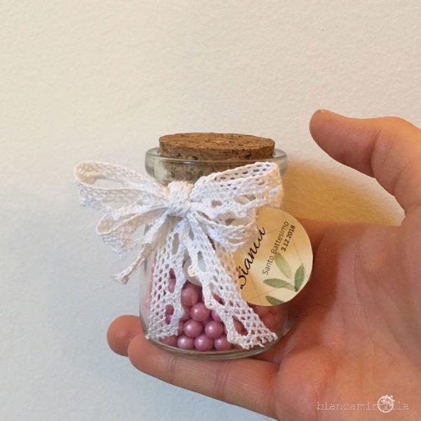 Vasetto porta confetti con tappo in sughero