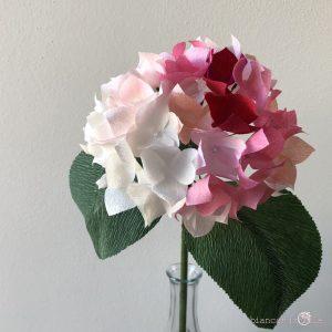 ortensia fiori di carta idee regalo componi il tuo bouquet