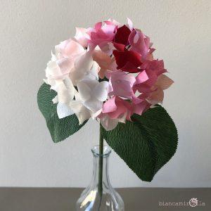 ortensia fiori di carta componi il tuo bouquet idee regalo