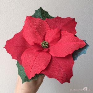stella di natale rossa fiori di carta