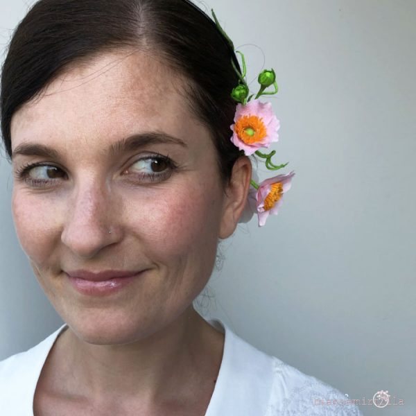 cerchietto con Anemoni Giapponesi fiori di carta idee regalo