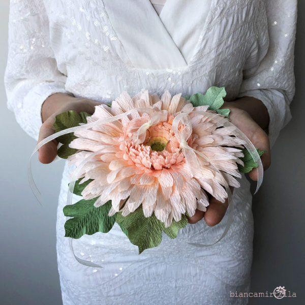portafedi Gerbera fiori di carta idee regalo
