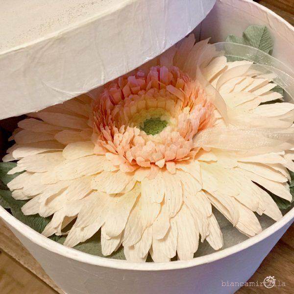 porta fedi Gerbera fiori di carta