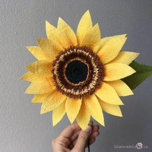 Girasole fiori di carta idee regalo componi il tuo bouquet
