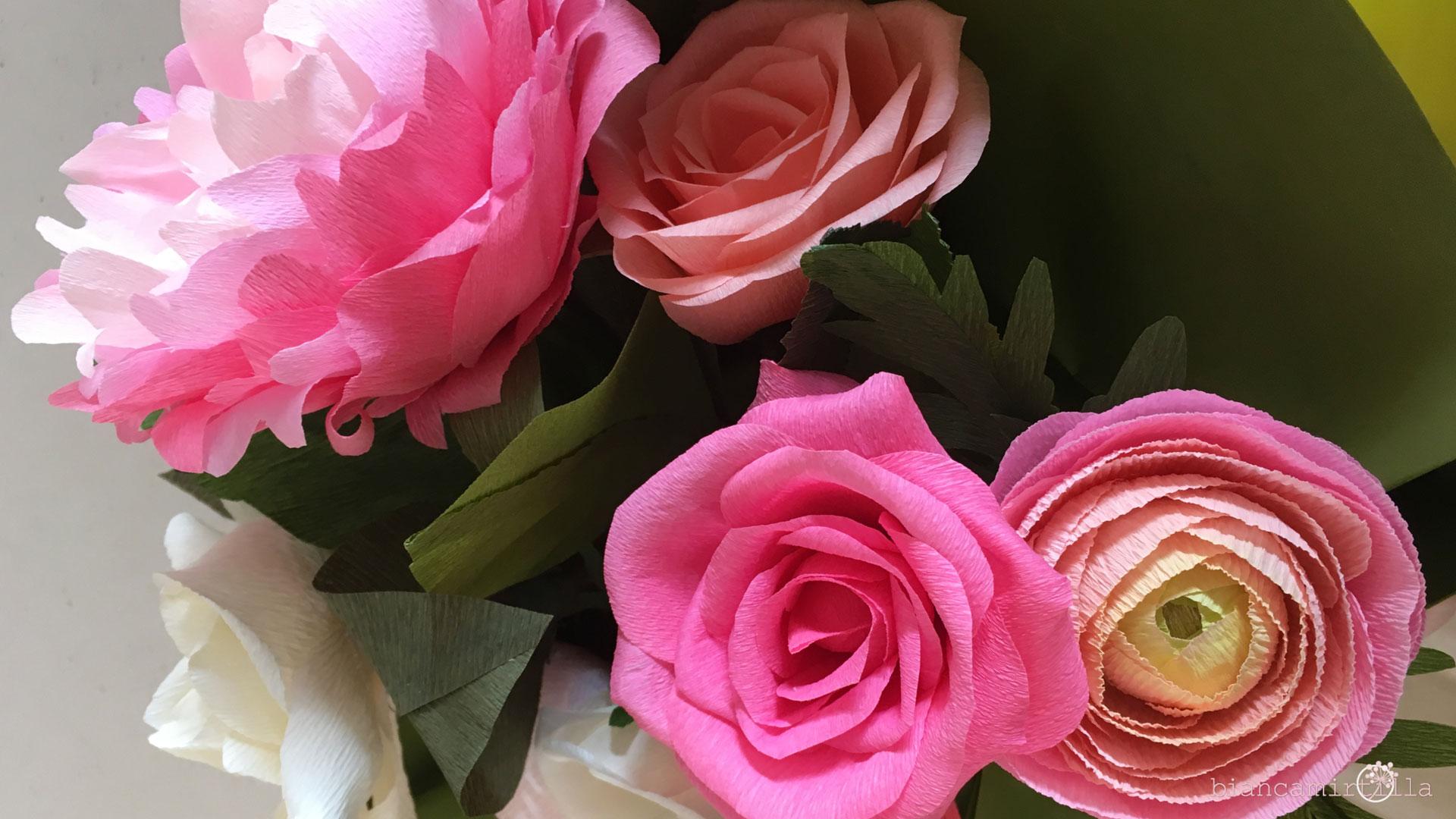 fiori di carta idee regalo componi il tuo bouquet