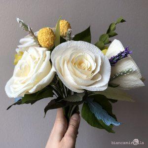 Bouquet Eugenia girasole margherita fiori di carta idee regalo