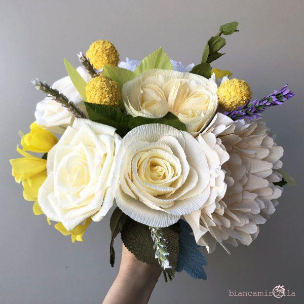 Bouquet Eugenia fiori di carta idee regalo