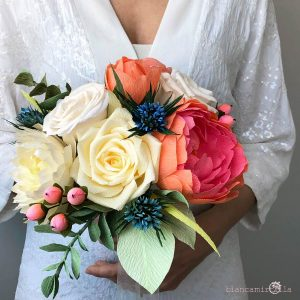 Bouquet Carol fiori di carta idee regalo