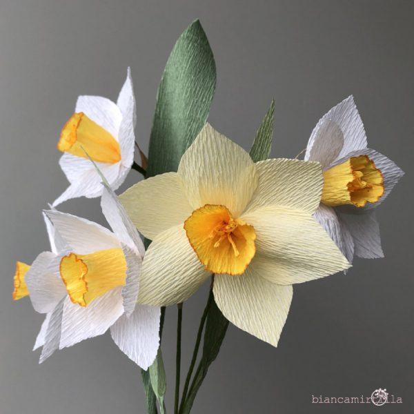Narciso fiori di carta idee regalo componi il tuo bouquet